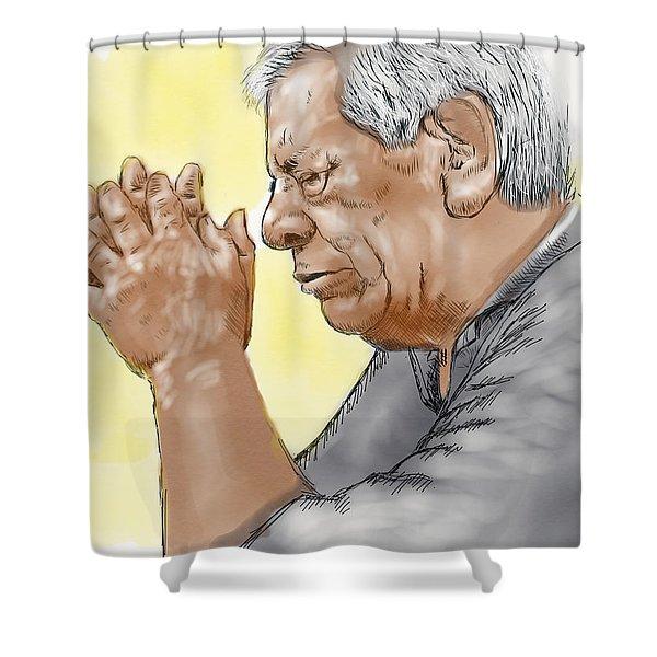Prayer Of A Righteous Man Shower Curtain