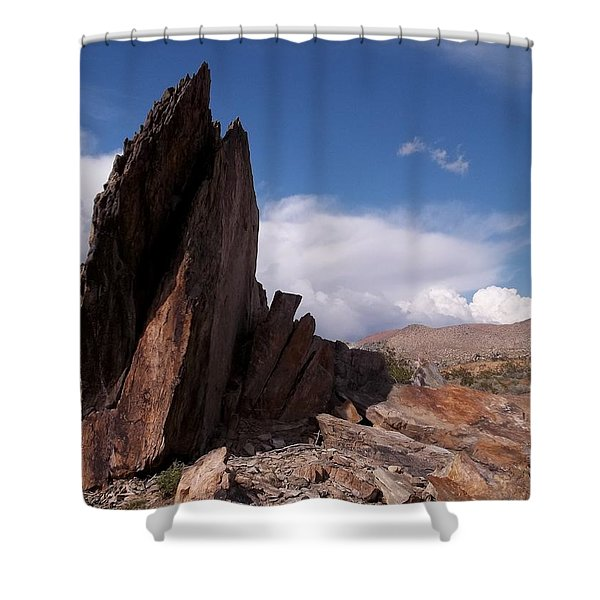 Prayer Rocks - Route 66 Shower Curtain