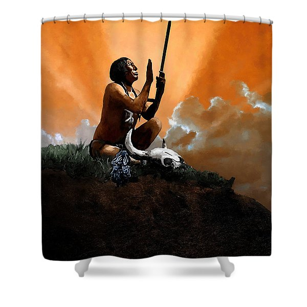 Prayer To The Great Mystery Shower Curtain
