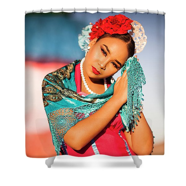 Praying Cathy Shower Curtain