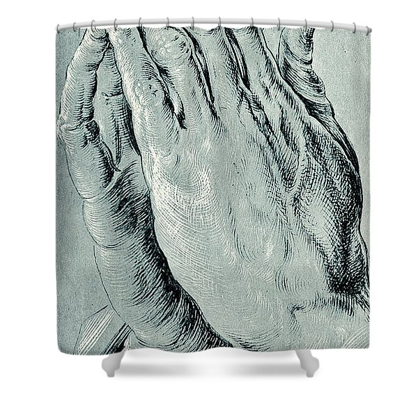 Praying Hands, Also Known As Study Of The Hands Of An Apostle  Shower Curtain