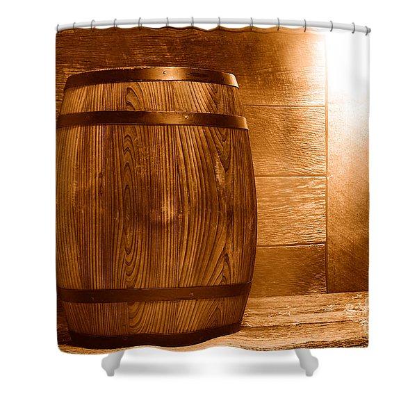 Precious Cargo - Sepia Shower Curtain