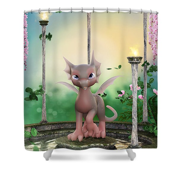 Precious In Pink Shower Curtain