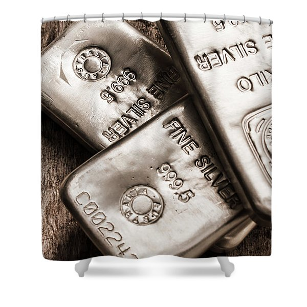Precious Metal Art Shower Curtain