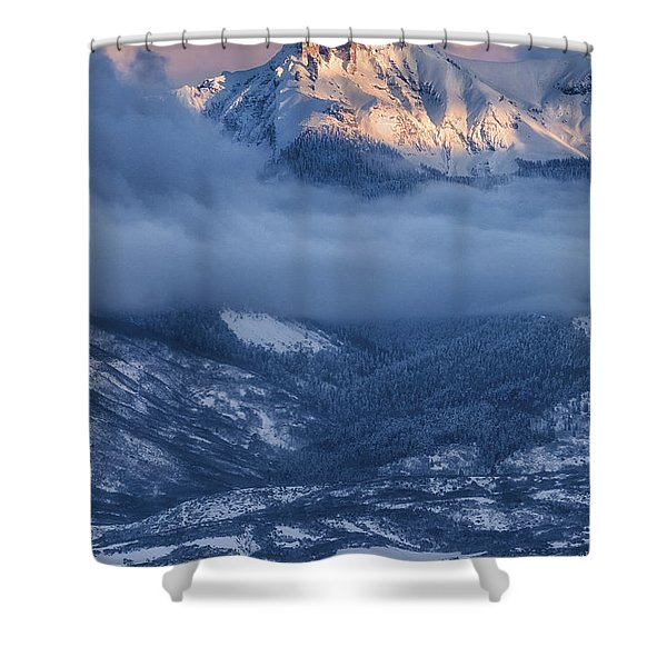 Precipice Smiling Shower Curtain