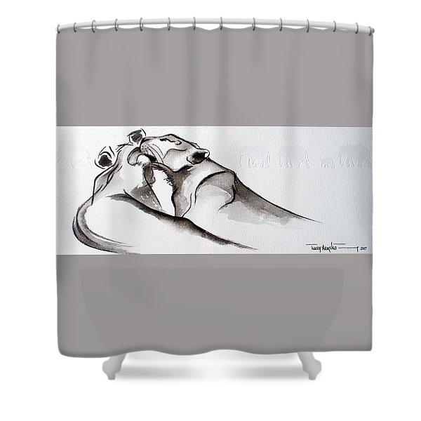 Preening Shower Curtain