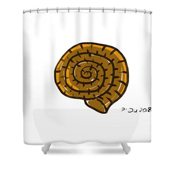 Prehistoric Shell Shower Curtain