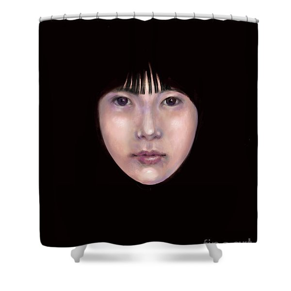 Prescient Moon, Heart Aflame Shower Curtain