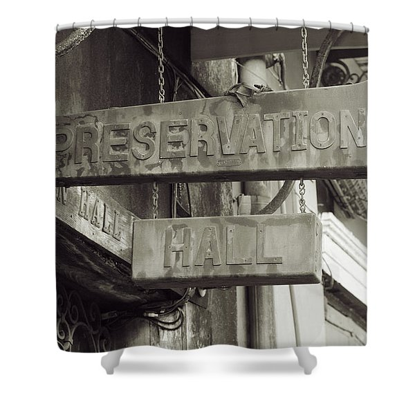 Preservation Hall, French Quarter, New Orleans, Louisiana Shower Curtain