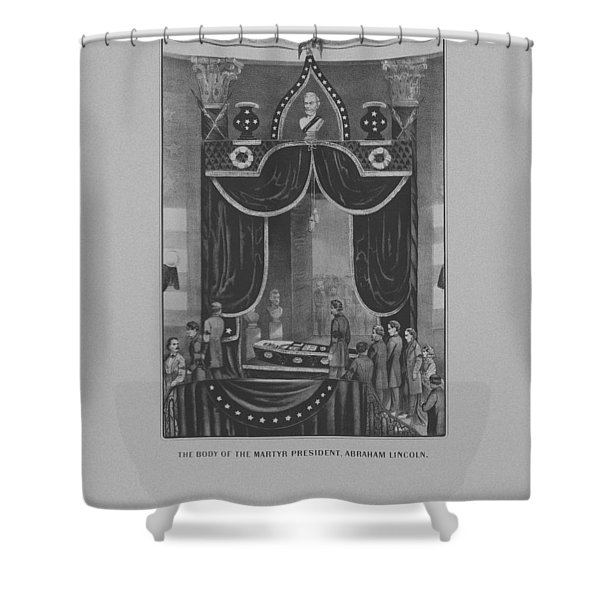 President Abraham Lincoln Lying In State Shower Curtain