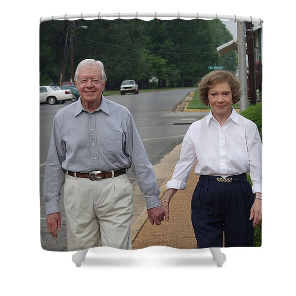 President And Mrs. Jimmy Carter Shower Curtain