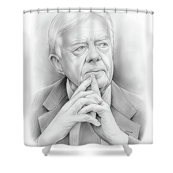 President Carter Shower Curtain