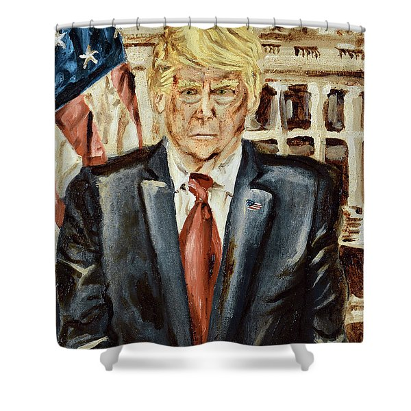 President Donald Trump Shower Curtain
