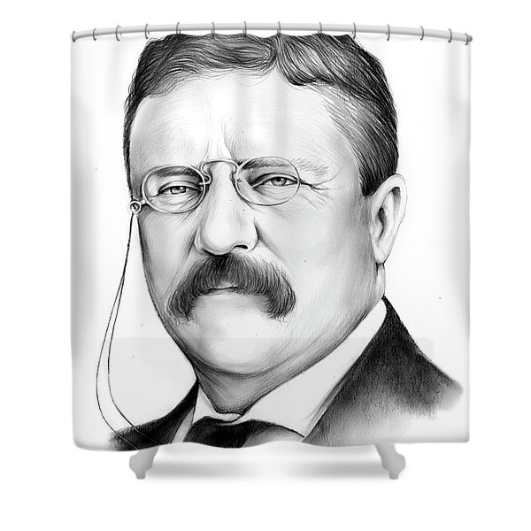 President Theodore Roosevelt 2 Shower Curtain