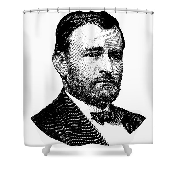 President Ulysses S. Grant Graphic White 2 Shower Curtain