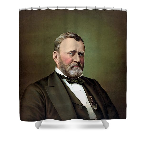 President Ulysses S Grant Portrait Shower Curtain