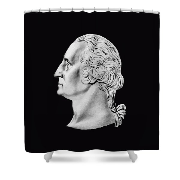 President Washington Bust  Shower Curtain