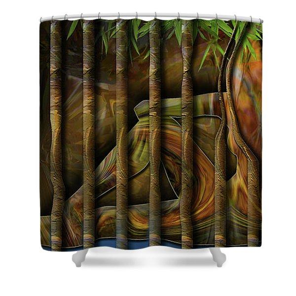Pretty As Prison Shower Curtain