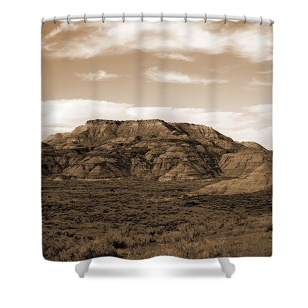 Shower Curtain featuring the photograph Pretty Butte by Cris Fulton