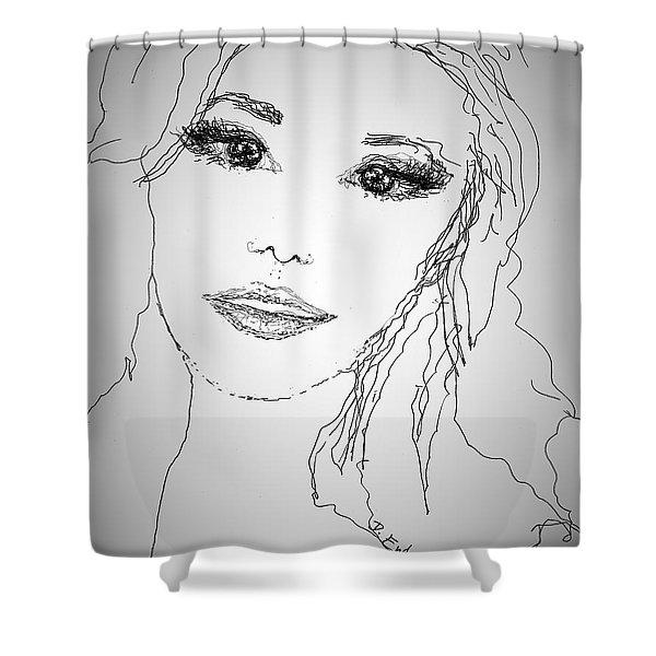 Pretty Eyes Shower Curtain