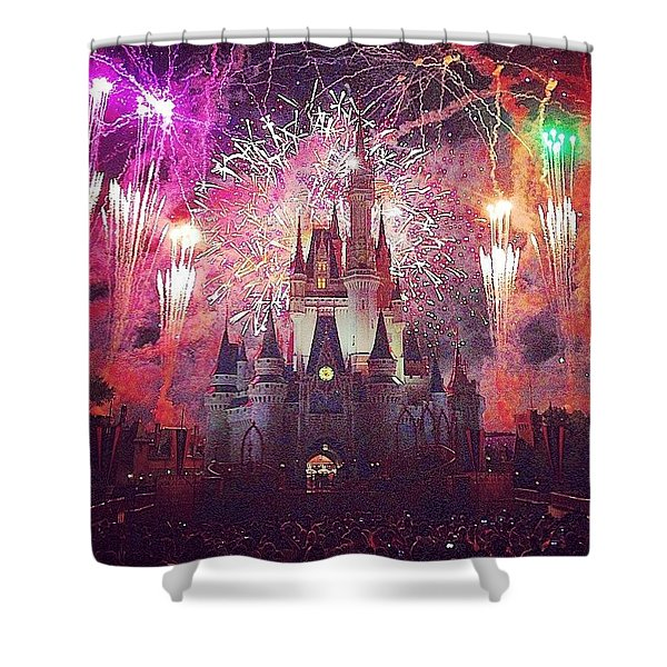 The Happiest Place On Earth  Shower Curtain