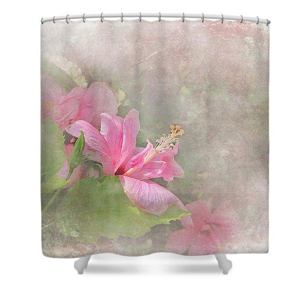 Pretty Pink Hibiscus Shower Curtain