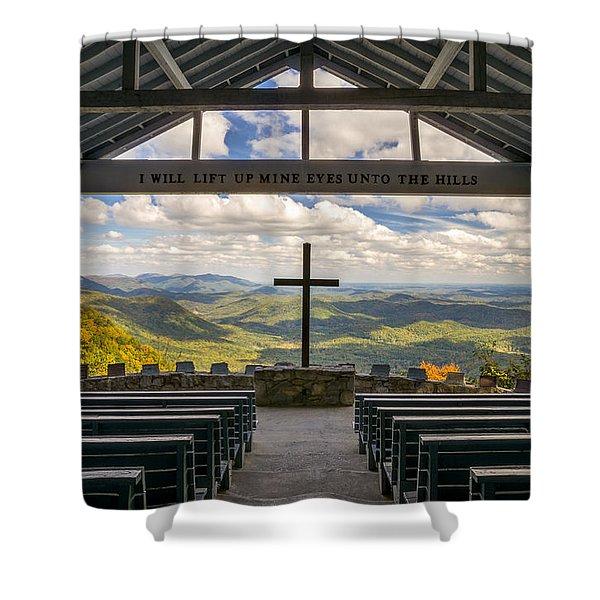 Pretty Place Chapel - Blue Ridge Mountains Sc Shower Curtain