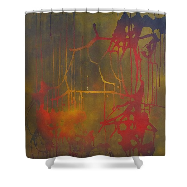 Pretty Violence On A Screen Door Shower Curtain