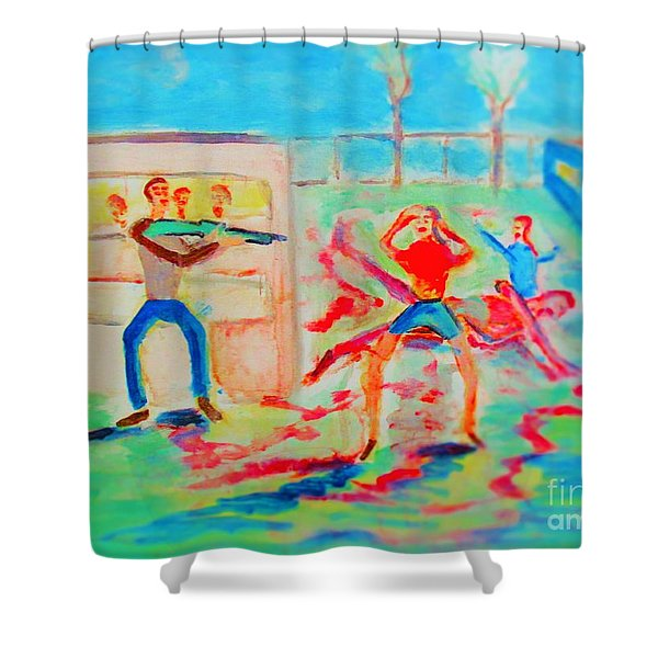 Prevention Of Shootings Memorial Shower Curtain