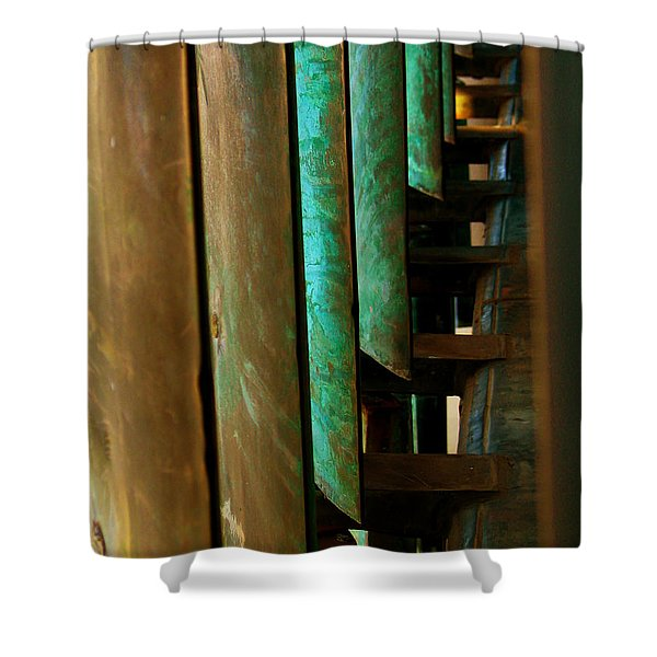 Price Tower Copper Detail 2 Shower Curtain