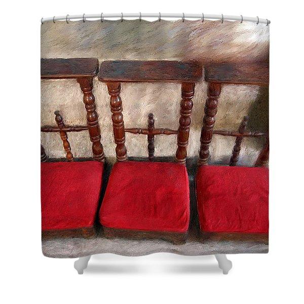 Prie Dieu - Prayer Kneeler Shower Curtain