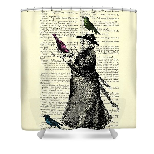 Priest And Birds Shower Curtain