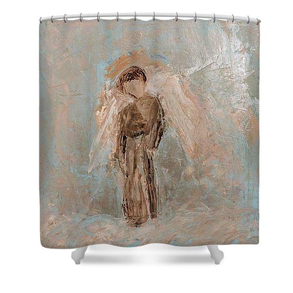 Priest Angel Shower Curtain