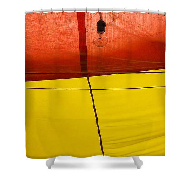 Primary Light Shower Curtain