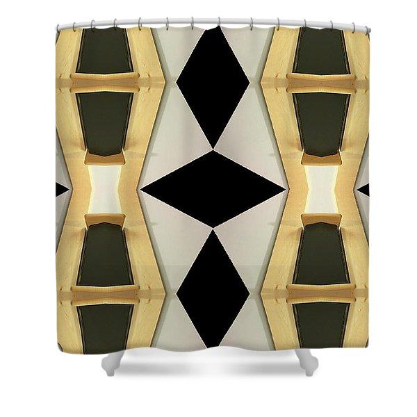 Primitive Graphic Structure Shower Curtain