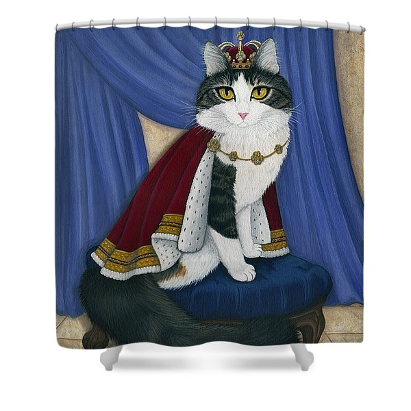 Prince Anakin The Two Legged Cat - Regal Royal Cat Shower Curtain