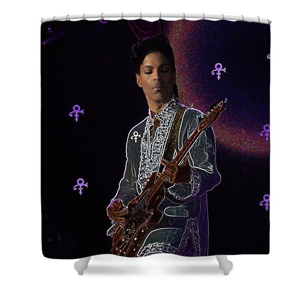 Prince At Coachella Shower Curtain