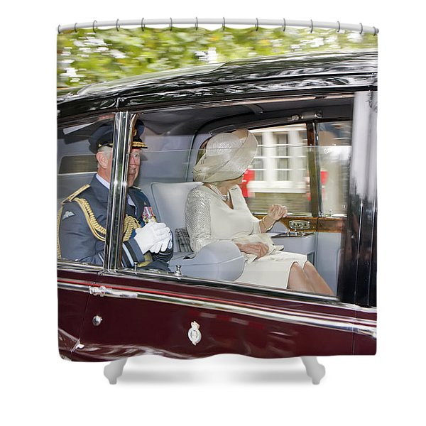 Prince Charles And Camilla Shower Curtain