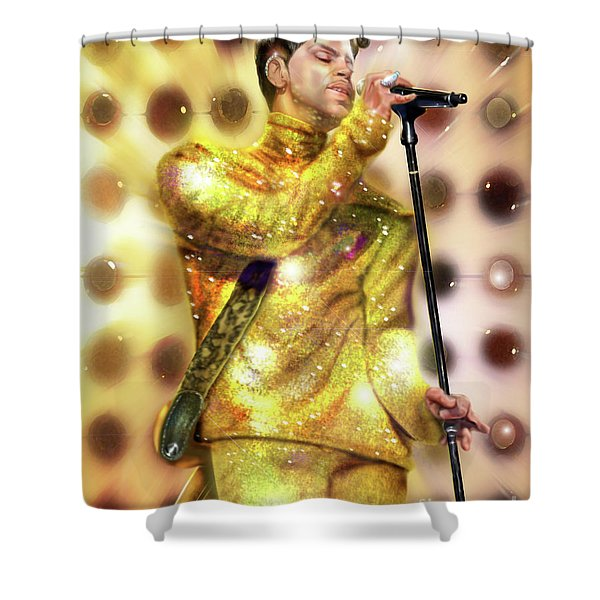 Prince Diamonds And Pearls Shower Curtain