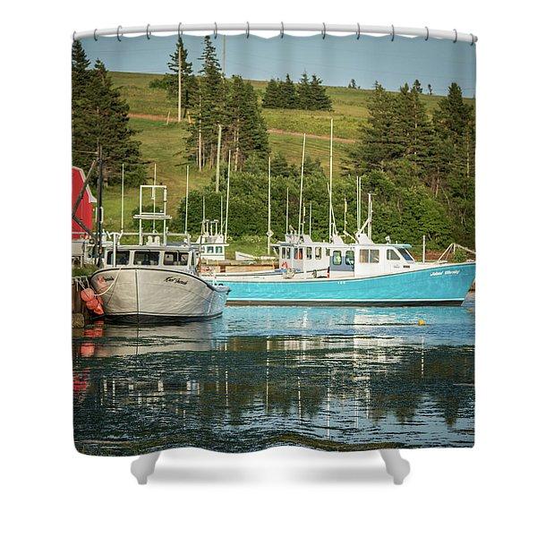 Prince Edward Island Lobaster Boats Shower Curtain