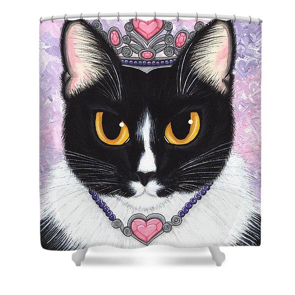 Princess Fiona -tuxedo Cat Shower Curtain