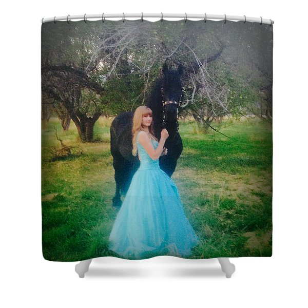 Princess' Stallion Shower Curtain