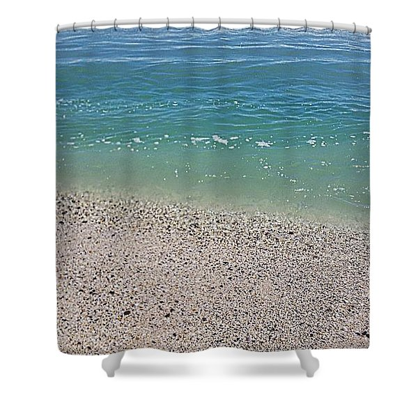 Pristine Beach  Shower Curtain