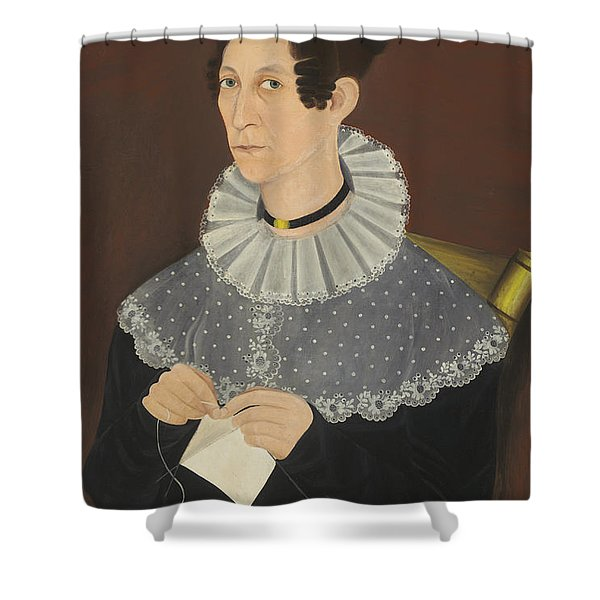 Probably Sarah Cook Arnold Knitting Shower Curtain