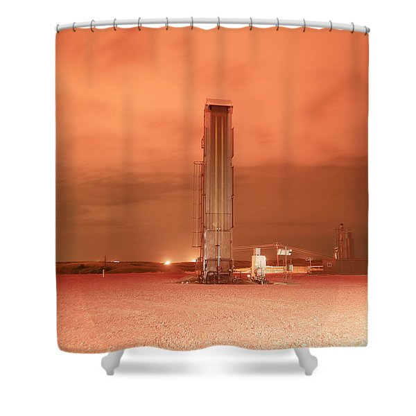 Production Site On A Cloudy Night Shower Curtain