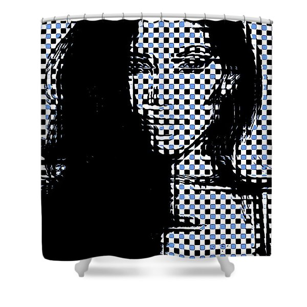 Profile In Evidence Shower Curtain