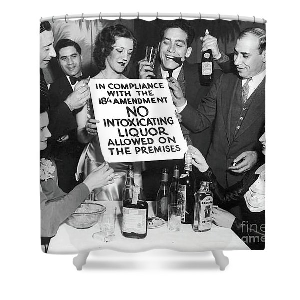 Prohibition Ends Let's Party Shower Curtain