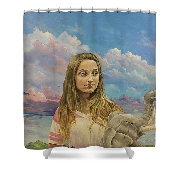 Prosperata Shower Curtain