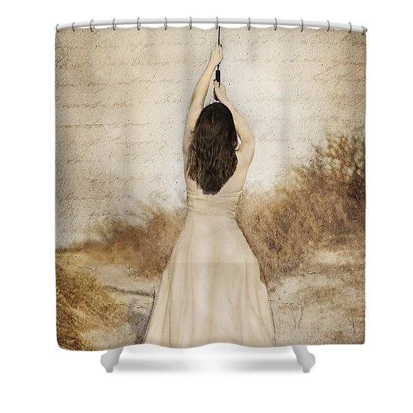 Protection Painted Lady Shower Curtain