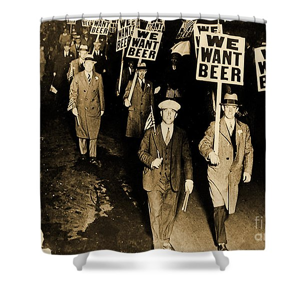 Protest Against Prohibition, New Jersey, 1931 Shower Curtain